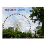 Roue Atlanta, la Géorgie de Skyview Ferris Carte Postale
