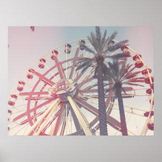Roue et paumes de Ferris Poster