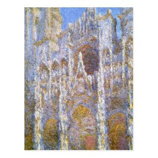 Rouen-Kathedrale, Sonnenlicht-Effekt durch Claude Postkarte