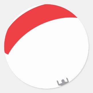 rouge de parapentiste - parapentisme sticker rond