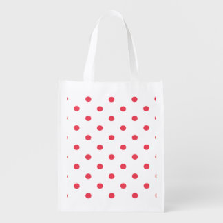 Rouge de point de polka sac réutilisable d'épcierie