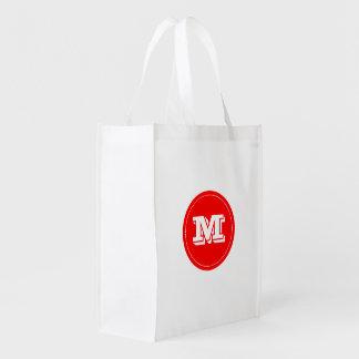 Rouge fait sur commande chic de fraise de tendance sacs d'épicerie