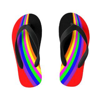 Rouge géométrique moderne de rayure de couleur
