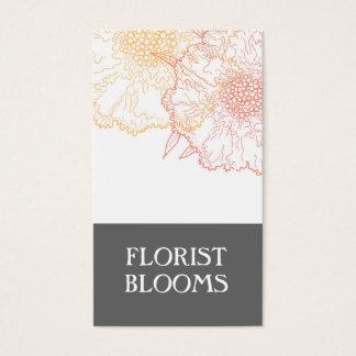 Rouge orange gris de cartes de visite de fleuriste