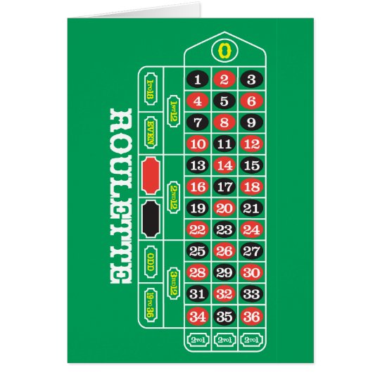 Roulette Grußkarte