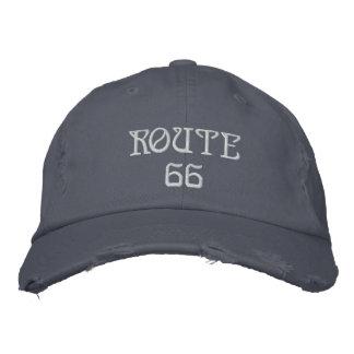 route 66 casquettes de baseball brodées