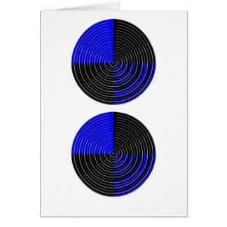 RoyalBlue n silberner Streifen Grußkarte