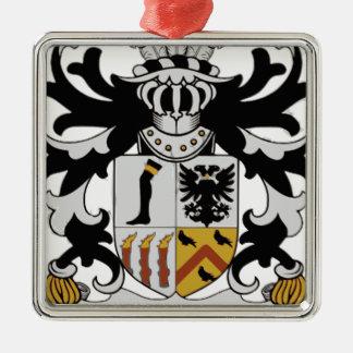 Royston-Häuschen Quadratisches Silberfarbenes Ornament