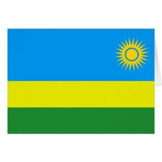 Ruanda-Flagge Karte