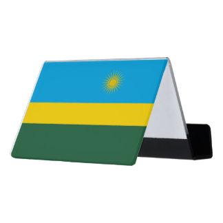 Ruanda-Flagge Schreibtisch-Visitenkartenhalter