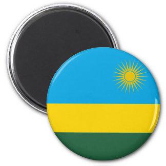 Ruanda-Flaggen-Magnet Runder Magnet 5,1 Cm