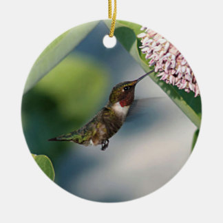 Rubin-throated Kolibri Keramik Ornament