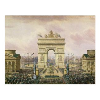 Rückkehr der Asche des Kaisers nach Paris Postkarte