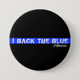Rückseite I der blaue Polizei-Polizistknopf Runder Button 7,6 Cm