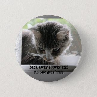 Rückseite weg langsam und niemand erhält verletzt runder button 5,1 cm