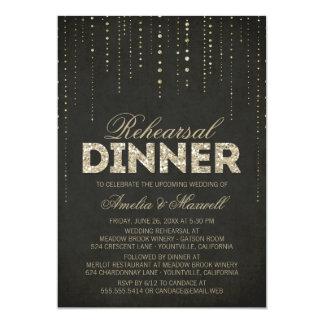 Rückseiten-u. GoldGlitter-Blick-Proben-Abendessen 12,7 X 17,8 Cm Einladungskarte