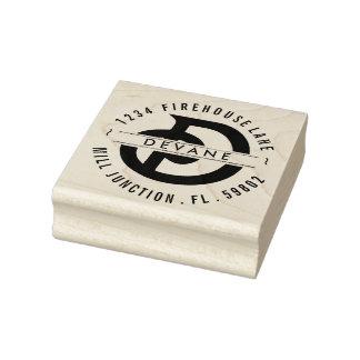 Rücksendeadresse-Briefmarke des Monogramm-D Gummistempel