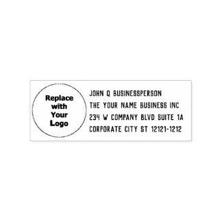Rücksendeadresse des Geschäfts-Logo-einfache Gummistempel