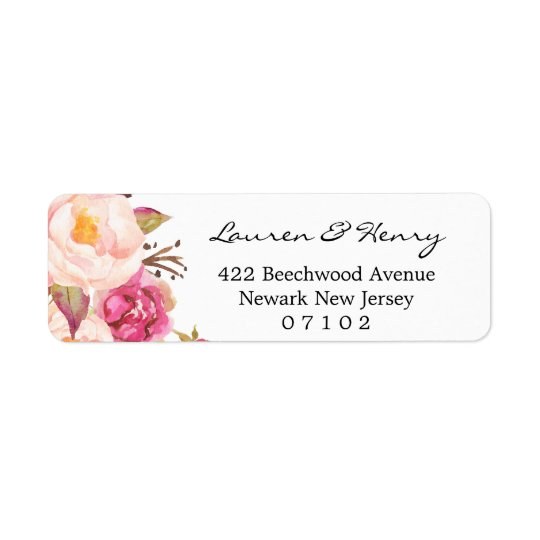 Rücksendeadresseaufkleber - rustikales rosa kleiner adressaufkleber