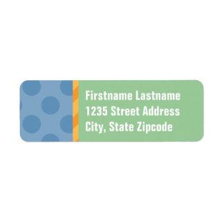 Rücksendeadressen-Aufkleber | blau, orange u. Grün