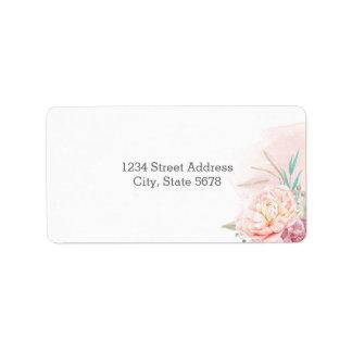 Rücksendeadressen-Aufkleber   errötet und Blüte Adressetikett