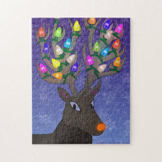 Rudolf mit Weihnachtslichtern