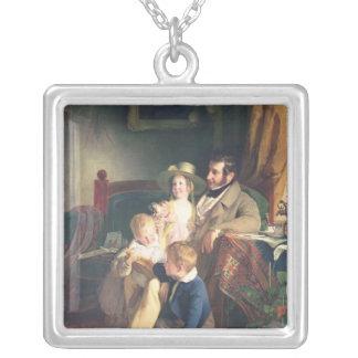 Rudolf von Arthaber mit seinen Kindern Rudolf Halskette Mit Quadratischem Anhänger