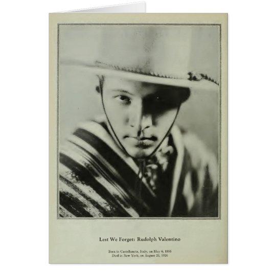 Rudolph Valentino 1929 Vintage Porträtkarte Karte