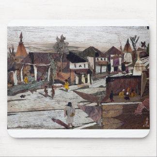 Rue de village dans le midi tapis de souris