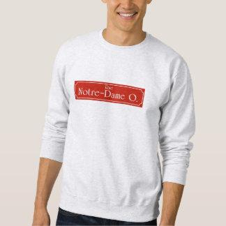 Rue Notre-Dame, Montreal-Straßenschild Sweatshirt