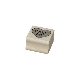RUFEN Sie MICH Liebe-Süßigkeits-Herz-Briefmarke Gummistempel