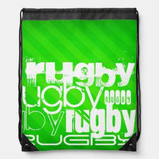 Rugby; Grüne Neonstreifen Sportbeutel