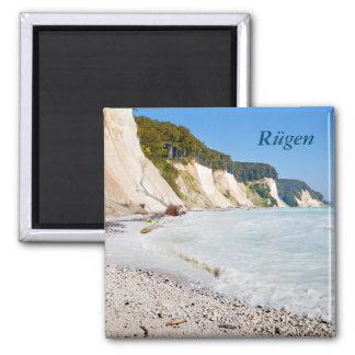 Rügen Kreideküste Quadratischer Magnet