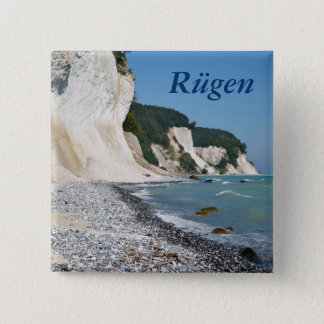 Rugen Küste Quadratischer Button 5,1 Cm