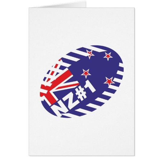 Rugy Ball NZ#1 Grußkarte