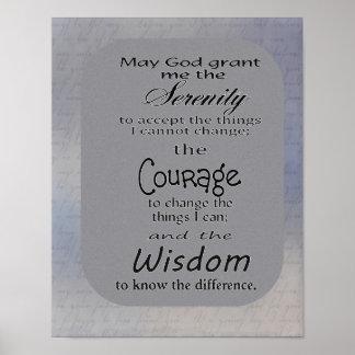Ruhe-Gebet -- Druck Poster