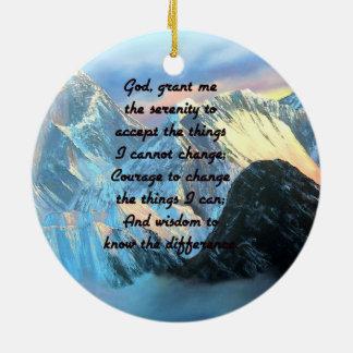Ruhe-Gebet mit Panoramablick-Mount Everest Keramik Ornament