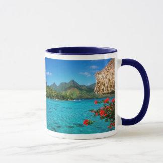 Ruhe-Gebet u. Bora Bora 2-SIDED Tasse