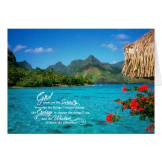Ruhe-Gebet u. Bora Bora Grußkarte