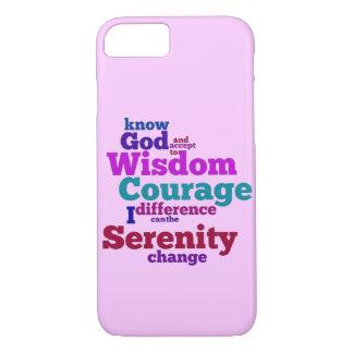 Ruhe-Gebet wordle iPhone 7 Hülle