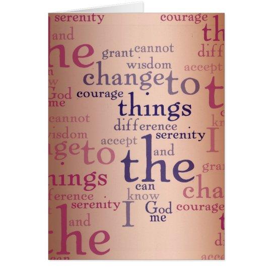 Ruhe-Gebets-Collage Grußkarte
