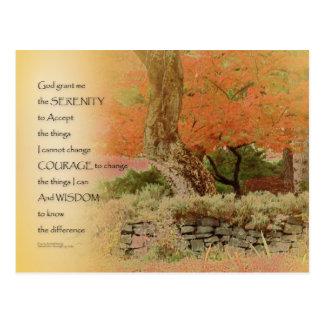 Ruhe-Gebets-Herbst-Harmonie Postkarte