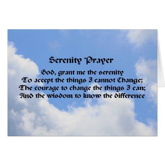Ruhe-Gebets-inspirierend Anmerkungs-Karten-blauer Mitteilungskarte