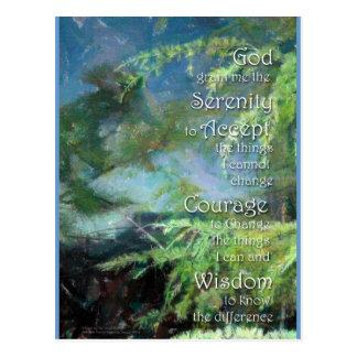 Ruhe-Gebets-Kiefer-Postkarte Postkarte