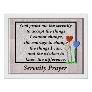 Ruhe-Gebets-Plakat Poster