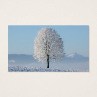 Ruhe-Gebets-Winter-Baum Visitenkarte
