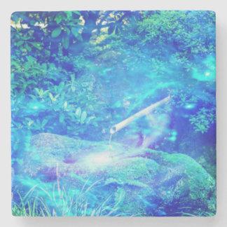 Ruhe im Garten Steinuntersetzer
