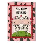 Ruhestands-Glückwünsche - Kühe Karten