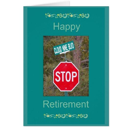 Ruhestands-Karte Grußkarte