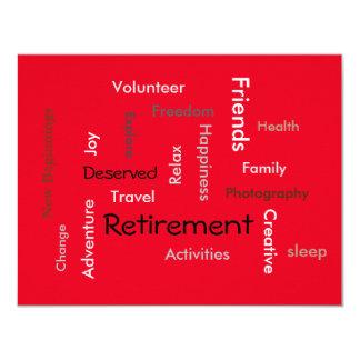 Ruhestands-Party: (fertigen Sie Worteinladungen Karte